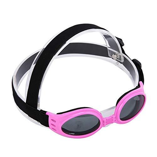Occhialini da Cucciolo per Cani Animale Domestico Occhiali da Sole con Protezione UV Occhiale da Sole a Doppia Chiusura con Cucitura Regolabile per An