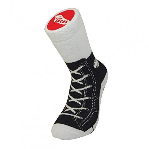 Sneaker Hausschuh Socken schwarz