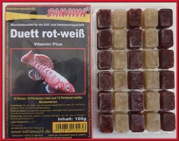 SAHAWA® Frostfutter 5X 100g Blister Duett (rote und weiße...