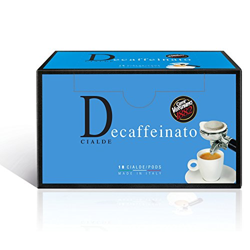 Caffè Vergnano 1882 Cialde Caffè Decaffeinato - 6 confezioni da 18 cialde (totale 108)