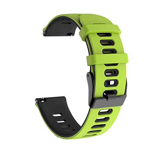 Para Samsung Galaxy Watch Active 2 40mm 44mm Strap Sport Pulsera Silicone WatchBand Active2 20mm Reloj Correa para GT2 42mm 1033 (Band Color : Green black, Band Width : 20mm)