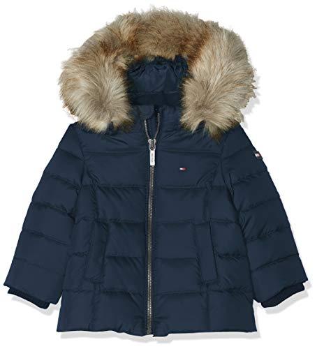 Tommy Hilfiger Baby-Mädchen Essential Basic DOWN Jacket Jacke, Blau (Blue 002), (Herstellergröße:86)