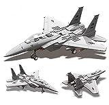 General Jim's Military Building Blocks Plane - F-15 Eagle Fighter Model Building Blocks Toy Plane - F15 Model Plane Set