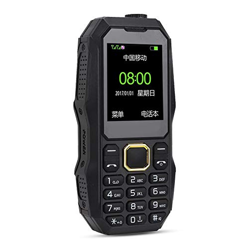 Kafuty U002 Teléfono móvil para Personas Mayores al Aire Libre con 13800 mah Batería de Larga Espera Doble SIM Dual en Espera Elder Teléfono móvil con Nivel de Sonido de Altavoz súper Grande(EU Plug)