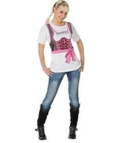 Karneval Kostüm 'Dirndl T-Shirt', Größe:40;Farbe:pink