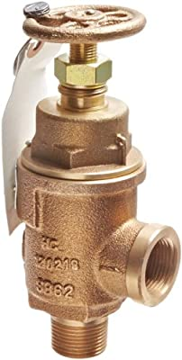 """Kunkle 0019-D12-MG0225 Bronze Liquid Relief Valve, 225 Preset Pressure, 3/4"""" NPT Female Inlet x 3/4"""" NPT Male Outlet from Tyco Valves & Controls"""