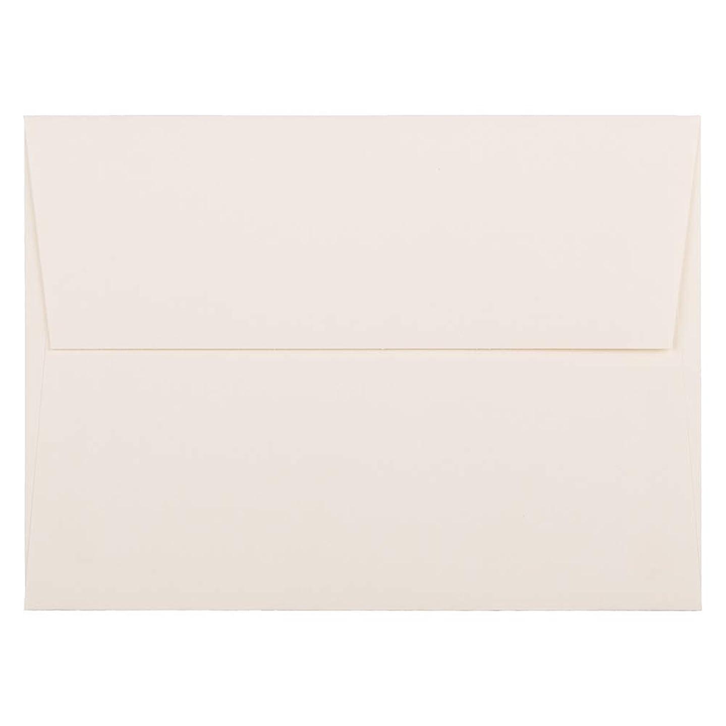 JAM PAPER A7 Strathmore Invitation Envelopes - 5 1/4 x 7 1/4 - Natural White Wove - 50/Pack