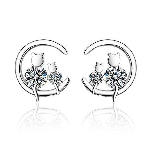 Zaaqio Große Ohrringe im europäischen Stil 925 Sterling Silber Ohrringe Einfache Hyperbole Style Kreis Creolen für Frauen