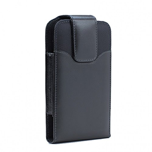 XXL Size Google Nexus 6P / 6 Premium Vertical Leather Belt Clip Swivel Pouch Case Cover Holster (Fits with Google Nexus 6P / 6 Otterbox Commuter/Defender or Thick Armor Hybrid Case On Cover)