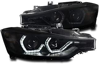 ZMAUTOPARTS LED Black/Smoke Projector Headlights Headlamps For 2012-2015 BMW 3-Series F30 Sedan 4DR