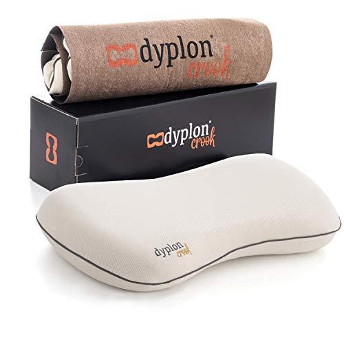 Dyplon Crook | Almohada Ortopédica Cervical para el Soporte de Cuello | Memory Foam | Cojin Antiescaras | Eco-Friendly | Producto Europeo | Funda 100% en algodón Natural | Transpirable