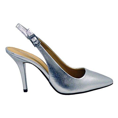 Salón destalonado de vestir Michael Kors Mk-Flex Sling Silver
