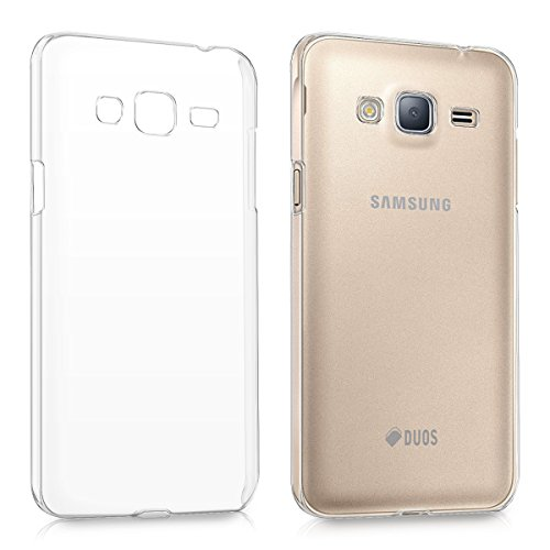 kwmobile Cover Compatibile con Samsung Galaxy J3 (2016) DUOS - Custodia Rigida Trasparente per Cellulare - Back Cover Cristallo in plastica - Trasparente