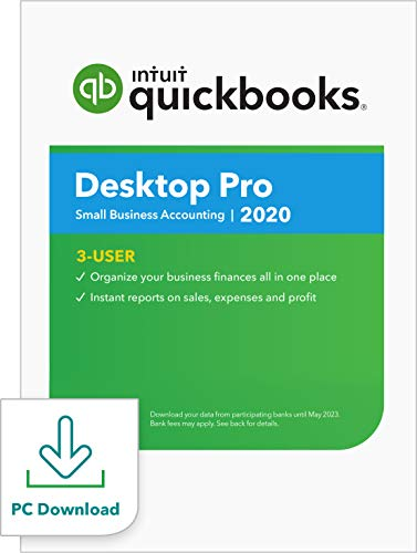 QuickBooks Desktop  Pro 2020  Accounting Software for Small Business - 3 User [PC Download]
