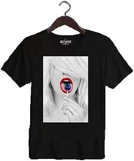 NO COMMENT PARIS(ノーコメント パリ) lollipop ブラック Tシャツ [並行輸入品]