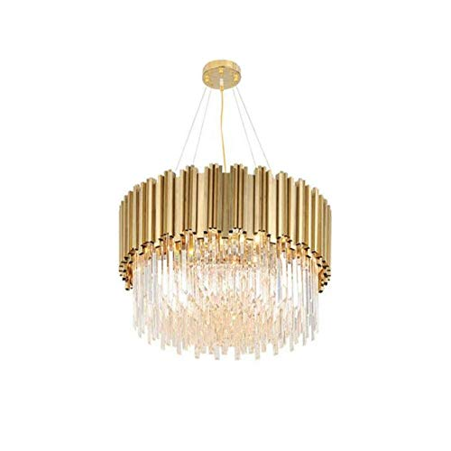 HLL Chandelier,Modern Luxury Crystal Chandeliers,Round Pendant Light Contemporary Raindrop Ceiling Lights Fixtures for Dining Living Room Kitchen Island Bedroom Foyer,Circular