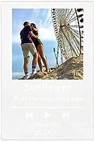 カスタムスポッキーコードアクリルの音楽ボードパーソナライズされたSpotifyGlassパーソナルミニポラロイド写真スタイルアクリル記念写真アルバムプラークカスタムミュージックプラーク (Color : White, Size : Music style)