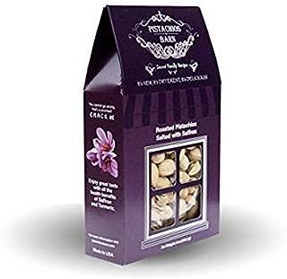 Pistachios Barn, Roasted Pistachio Nuts Salted with Saffron, Premium California Grown Snacks