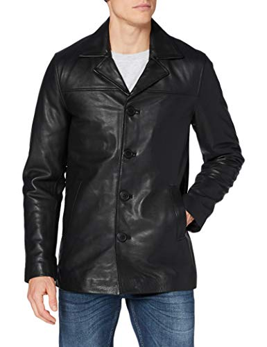 Schott nyc LCMAINE2 Leather Jacket, Black, Small Mens