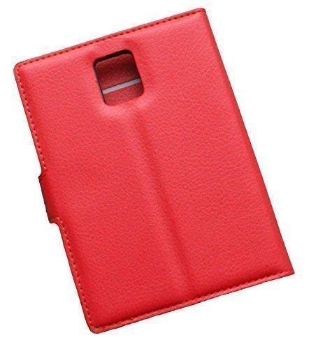Schutztasche Hülle für Blackberry Passport Q30 Flip Hülle mit Kartenfächern & Standfunktion - Dealbude24 (Rot)