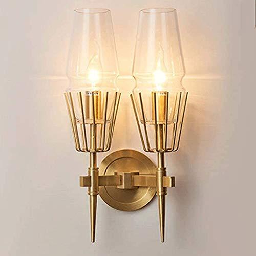 Lámpara de Pared con Iluminación Decorativa Estilo Tiffany retro pared de la luz, persiana de cristal creativo oscilación apliques de la pared de la lámpara de bronce del metal del brazo for sala de e