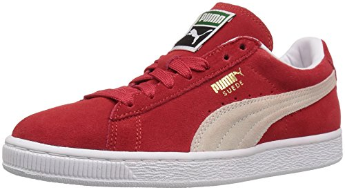 PUMA Women's Suede Classic W Fashion Sneaker, High Risk Red/White, 9 M US