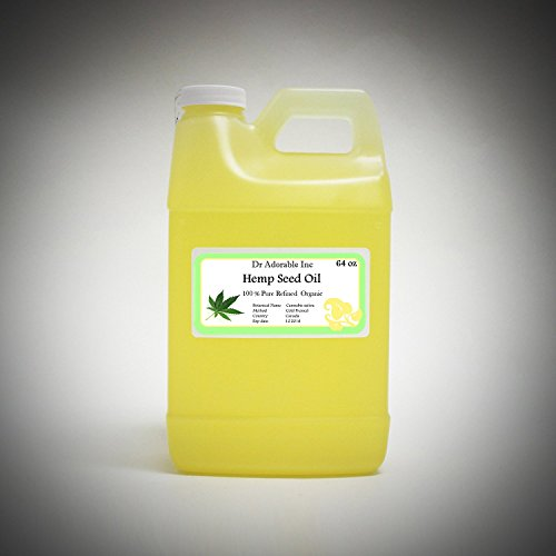 Hemp Seed Oil REFINED Pure,Organic,Cold Pressed by Dr.Adorable 64 oz/2 quarters