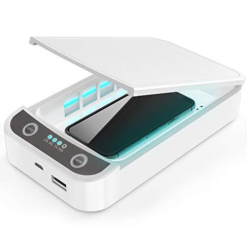 Caja esterilizadora UV, desinfectante de teléfono UV, inalámbrico, d