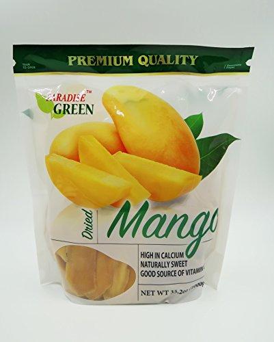 Paradise Green Premium Quality Dried Fruit Family Size Pack (Mango 35.2oz)