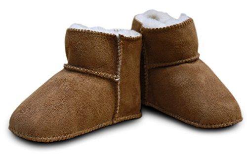 HEITMANN Babyschuhe - Lammfell, Größe:20/21;Farbe:Camel