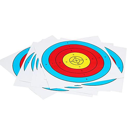 Nicejoy Flecha Metas Blancos De Papel De Tiro con Arco Caras Flecha Metas Complementos para La Caza Al Aire Libre para El Ajuste De La Práctica Diaria 30pcs