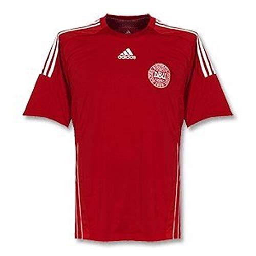 adidas formotion Herren dänisches DBU Dansk Boldspil-Union Trikot Nationaltrikot Teamtrikot Shirt Fussball Fußball fodbold danmark Dänemark både Männer Rot weiß Powerred White Größe XL