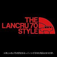 ランドクルーザー70(ランクル70)ステッカー THE LANCRU 80 STYLE【カッティングシート】パロディ シール(12色から選べます) (赤)
