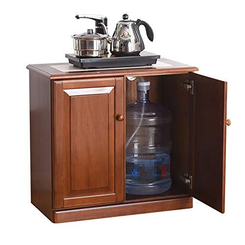 KDOAE Gabinete Lateral Cocina for Guardar aparador Antiguo apilable Gabinete for el hogar Armario Habitación Buffet para Sala de Estar (Color : Dark Brown, Size : 67x35x63cm)
