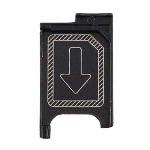 73JohnPol In StockNewest Micro SIM Kartenhalter Slot Ersatz für Sony Xperia Z3 Z3 Compact, schwarz