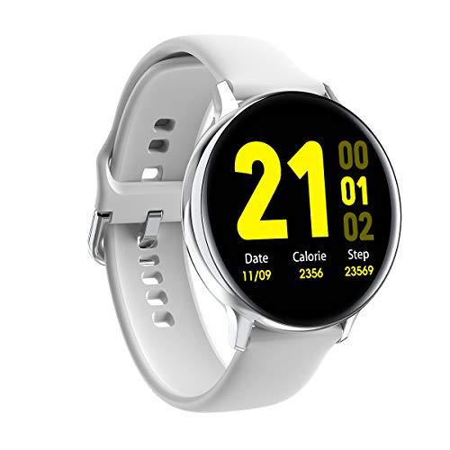 InnJoo Reloj Inteligente Unisex (Smartwatch) - EQIS R Silver - Pantalla 3.5cm - BT 4.0 - Notificaciones - Ritmo Cardiaco - Ip68 - Bat 230mah