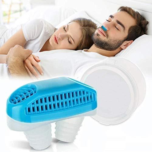 Dispositivi anti russamento Tappo per sfiato naso, purificatore d'aria anti russare 2 in 1, silicone...