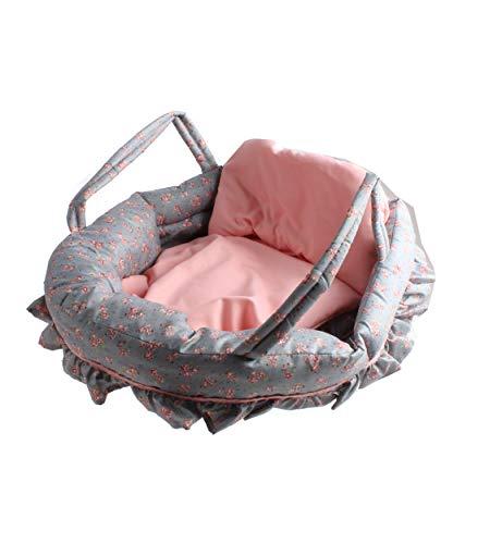 Capazo - Moisés - para muñeco de hasta 50 cm - acolchado - Incluye cojín y colchón - Alta calidad y acabados (muñeco no incluido)