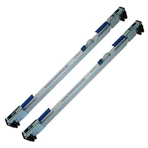 2 x Zwischenwandverschluss, verstellbar 1,14m - 2,71m, Stahl, glanzverzinkt, 3-Röhren-Design