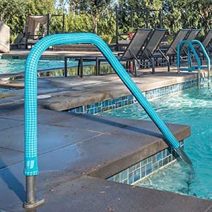 Eliminates Hot /& Cold Handrails Installs in Seconds w Zipper Color: Royal Blue No Tools Needed KoolGrips Handrail Cover for Swimming Pool /& Spa 2 Foot Length 1.90 Diameter