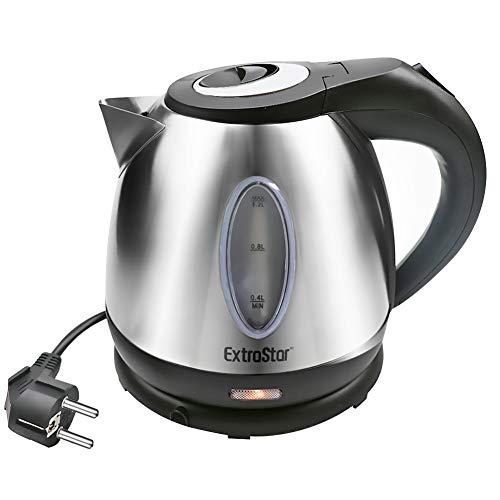 EXTRASTAR Bollitore Elettrico 1,2L 1630W Acciaio Inossidabile,Spegnimento automatico, Base di rotazione a 360°, Protezione Boil-dry, BPA Assente, Design esclusivo bollitore. (Acciaio Inox, 1.2L)