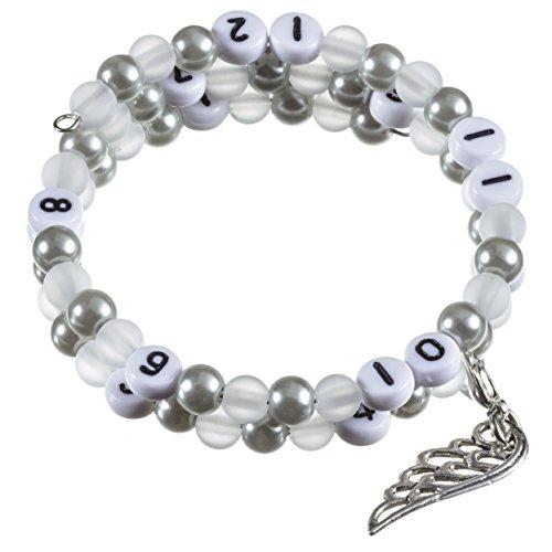 Stillarmband Grey - Praktisch für stillende Mütter sowie ein ideales Geschenk zur Geburt! (Polaris-/Glaswachsperlen)