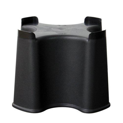 Strata Slimline Regentonnen-Standfuß, Black, 40 x 40 x 30,5 cm