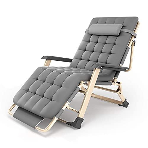 FHISD Ligstoelen voor tuin Set van 2olding Zero Gravity stoelen met hoofdkussen en kussen, Patio Camping Outdoor Indoor fauteuil, 5-niveau verstelbare bedstoel