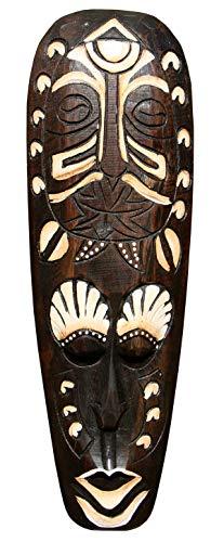 Schöne 50 cm Wand Maske Maori Tribal Holz Tier Afrika Maske46