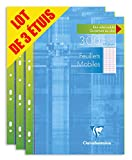 Clairefontaine 175511AMZC - Lote de 3 estuches de 300 páginas A4 (210 x 297 mm), 900 páginas en total, Rayado francés Séyès