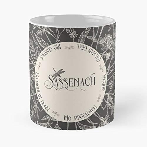 92Wear Outlander Sassenach Jamie Fraser Claire Mo Nighean Dunn Donn Best 11 oz Taza De Café - Taza De Motivos De Café