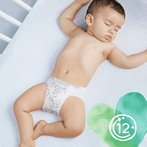 Pampers Pure Protection Size 5, 132 Nappies, 11 kg+, Monthly Saving Pack, Made with Materials Containing Premium Cotton and Plant-Based Fibres
