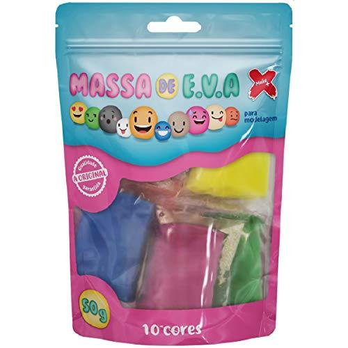 Massa De Eva 10 Cores Sor.P/Artesanato 5g. - 01 Unidade, Make+, 13022, Multicor