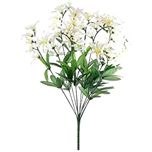 GF Artificial Silk Flowers Cream Freesia Bush Artificial Silk Flowers 22″ Bouquet MG019